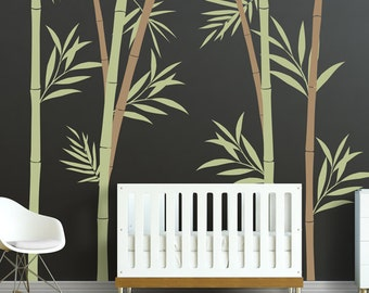 Bamboo Wall Decal   Bamboo Stalks Nursery Wall Decals WAL 2108