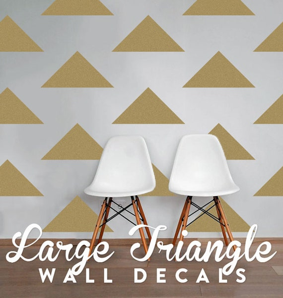 Large Triangle Wall Decals Geometric Wall Design Customize