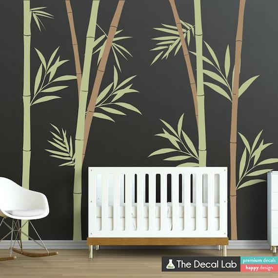 Bamboo Wall Decal Bamboo Stalks Nursery Wall Decals WAL-2108