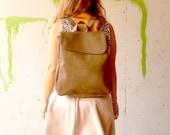 Women backpack, brown bag, laptop bag,  brown women bag