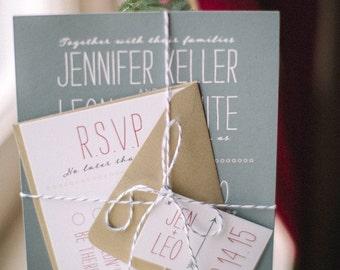 Cupid Shuffle 2.0 -- SAMPLE -- Hearts & Arrows Wedding invites, Modern, clean, fun wedding invitation suite