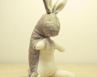 Baby Bunny Rabbit toy eco friendly Natural handmade plush