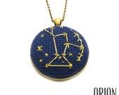 Personalized Jewelry Orion Zodiac Constellation Necklace Zodiac Jewelry Bohemian Jewelry Bridal Jewelry Embroidery Boho Necklace