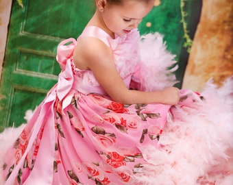 Frilly Fun Girls Feather Dress