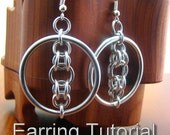 Luna's Halo Chainmaille Earring Tutorial