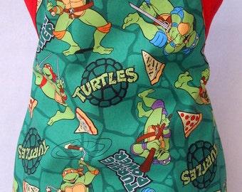 Kids Apron Teenage Mutant Ninja Turtles Michael Angelo Donatello Raphael Leonardo Holiday Birthday Gift For Him