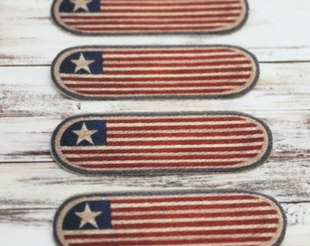 Dollhouse Stair Treads or Rugs in Red White and Blue Flag Pattern For Staircase or Stairway Steps