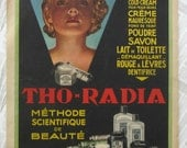Vintage French magazine Marie Claire 1930's Tho-Radia advert