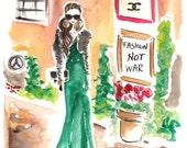 Fashion illustration print, Fashion print, Fashion Quote Fashion illustration, Girls Art,Girls room print, Fashion Girls