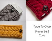 Signature Cable Double Cable Knit iPhone Case for iPhone 6/6S - Made to Order