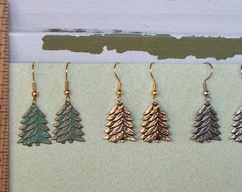 Pine Tree Earrings Only -  BZ Designs - Evergreen Tree
