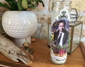 "FOX MULDER Altar Candle: ""He Who Wants To Believe"" X-Files"