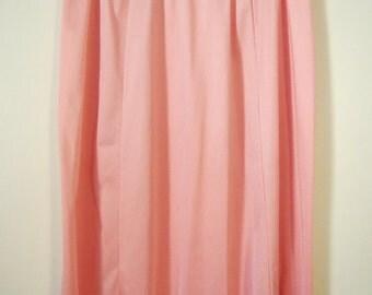 Vintage 1970s pink midi slip petticoat