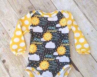 Baby Bodysuit  - One Piece - you are my Sunshine Bodysuit