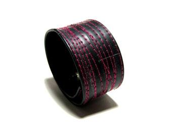 Summer Sale! 15% off - Hot Pink Thin Bike Tube Cuff