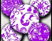 INSTANT DOWNLOAD Purple Floral (472) 4x6 Bottle Cap Images Printable Digital Collage Sheet bottlecaps glass tiles hair bows cabochon images