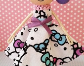 April Hello Kitty Miniature Wooden Clothespin Doll