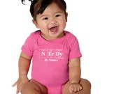 SALE! Periodic Table Inspired Baby Bodysuit - NERDY By NATURE - Baby Gift For Geeky Parents (Pink)