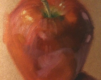 6x8 Original Apple Oil Painting