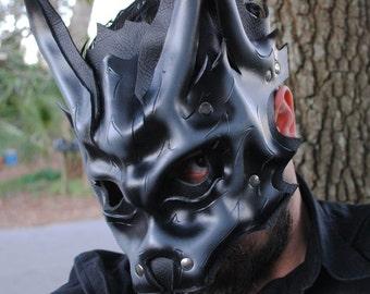 Granite Beta Wolf Leather Mask