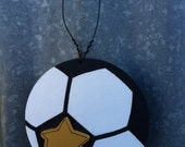 Soccer wooden ornament - personalized for Free