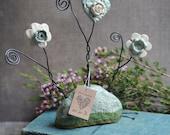 Ceramic Flower Garden ~ Card or Picture Holder