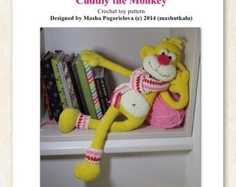 Cuddly the Monkey - crochet toy pattern - amigurumi pattern - DIY