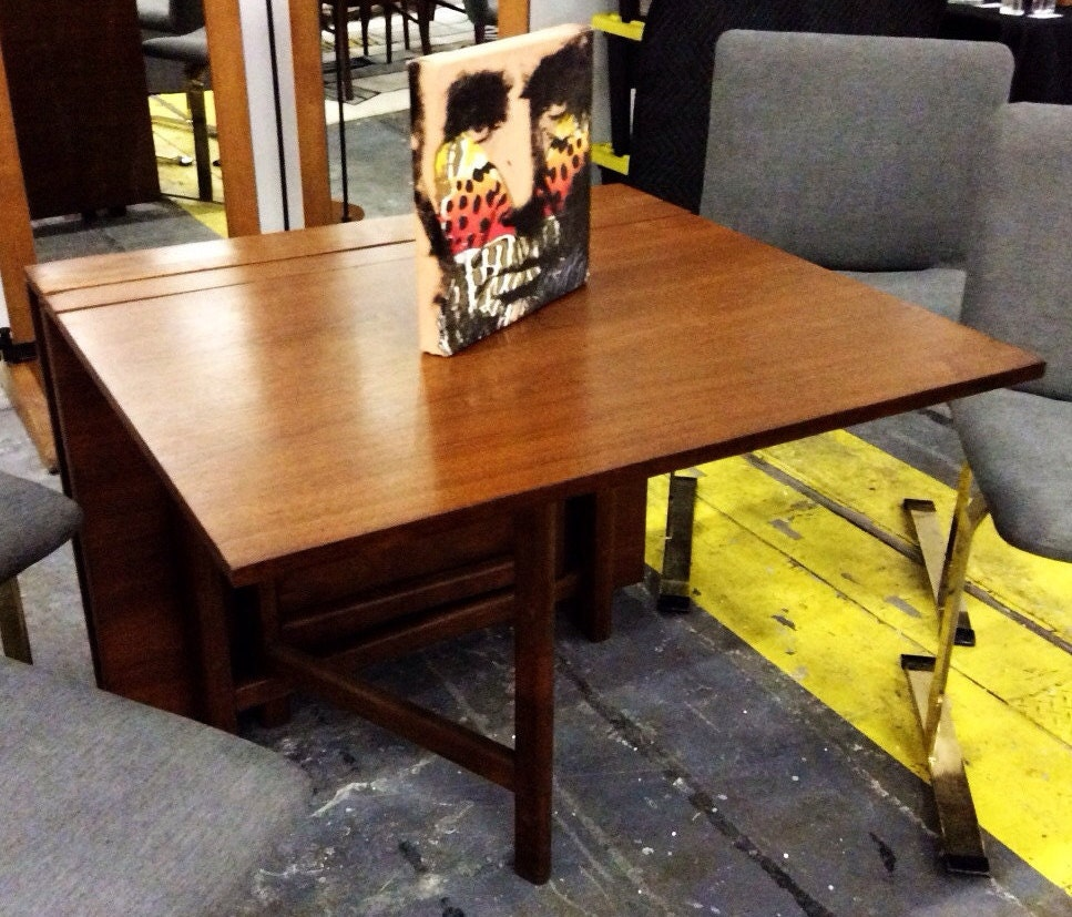 danish modern bruno mathsson style maria gate leg expandable dining