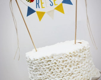 Madeline Cake Banner, Personalized Cake Banner, Birthday Cake Banner, Custom Cake Banner, Custom Cake Garland, Personalized Cake Garland