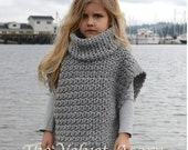 CROCHET Pattern - Aura Pullover (2, 3/4, 5/7, 8/10, 11/13, 14/16, S/M, L/XL sizes)