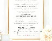 "Light Gray & Cherry Red, Dave Matthews ""You and Me"" - Valentine's Day, Wedding, Paper Anniversary Gift, Wedding Song Lyrics Wall Art Print"