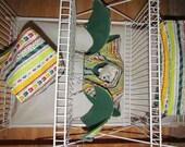 5Pc, Critter Nation Hammock Set, Pet Rat Hammocks, Small Animal Bedding Set, Sugar Gliders, Hedge Hogs, Pet Bedding, Calzone, Green-Yellow
