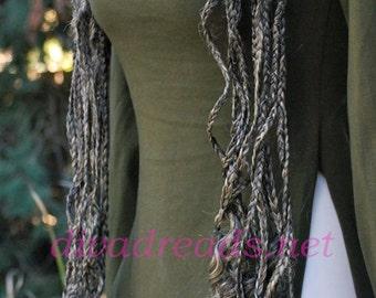 Diva Dreads XL Braided Curly falls in Grey