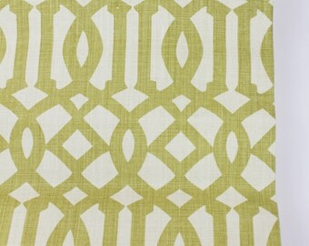 Schumacher Kelly Wearstler Imperial Trellis Roman Shade (shown in Citrine... comes in 11 Colors)