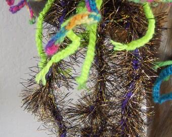 Crochet Stuffed Animal Jellyfish-MEDUSA-Neon Rainbow and Fiberoptic Jellyfish Amigurumi -Crochet Art Home Decor Jellyfish Plush-Marine life