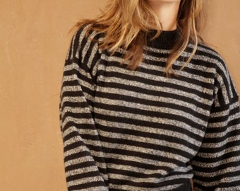 90s striped OXFORD soft SWEATSHIRT