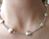 14k Two tone gold necklace