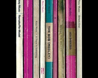 Roxy Music Poster Print Debut Album As Penguin Books, Literary Print, Music Poster, Bryan Ferry Brian Eno Art
