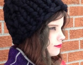 Giant Knit Hat : Super Luxurious Thick and Bulky Wool Knit Hat Beanie Huge Hat