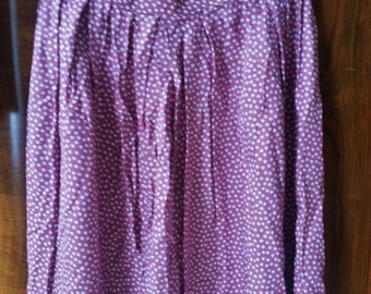 Pink 1980s 1990s Polka Dot Maxi Skirt Summer Indie Granny Hipster