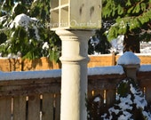 Birdhouse in Snow Photo Greeting Card Nature Photography Christmas Card Fine Art Photography
