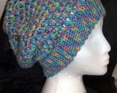 Sale! 5 Dollar Summer Pastels Puff Stitch Hand Crocheted Slouch Beanine