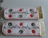 Vintage Mid Century Wrap Arounds~ Freund Mayer & Co Napkins Cherrys/Olives Cool