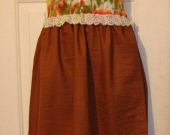 Petite dress Tie Dye dress Hemp like Dress Mini dress Maxi dress Festival Dress Cotton dress hippie dress tribal dress hippy dress brown *
