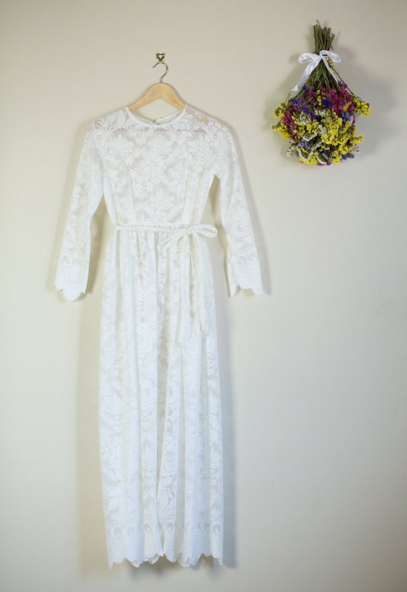 Items Similar To Cream Lace Maxi Summer Simple Wedding