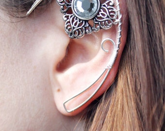 elven ear - ear cuff - elvish earring - elf ear - Clear