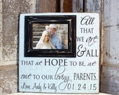 Parents of the Groom Gift, Mother of the Groom,Parents Thank You Gift, Personalized Picture Frame 16x16  Father of the Groom