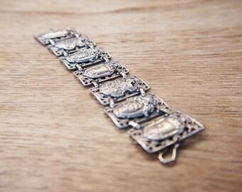 Vintage French Heraldic Bracelet