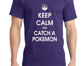 Keep calm and catch a pokemon---MasterBall---Tee Shirt