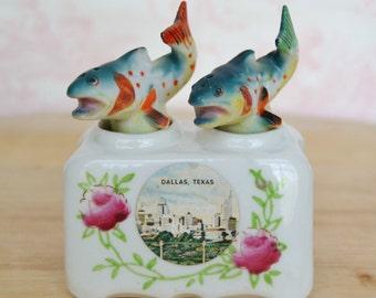 Vintage Fish Nodder Souvenir Salt and Pepper Shakers